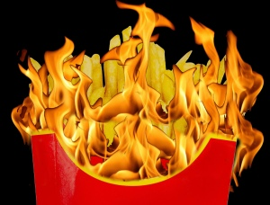 French fries in fiamme 2